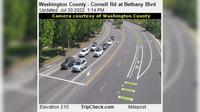 Durham: Washington County - Cornell Rd at Bethany Blvd - El día