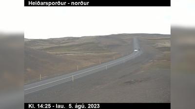 Current or last view from Staður: Holtavörðuheiði