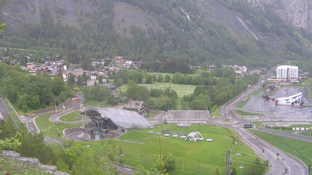 Webcam Entrèves: Cantiere nuova funivia del monte bianco