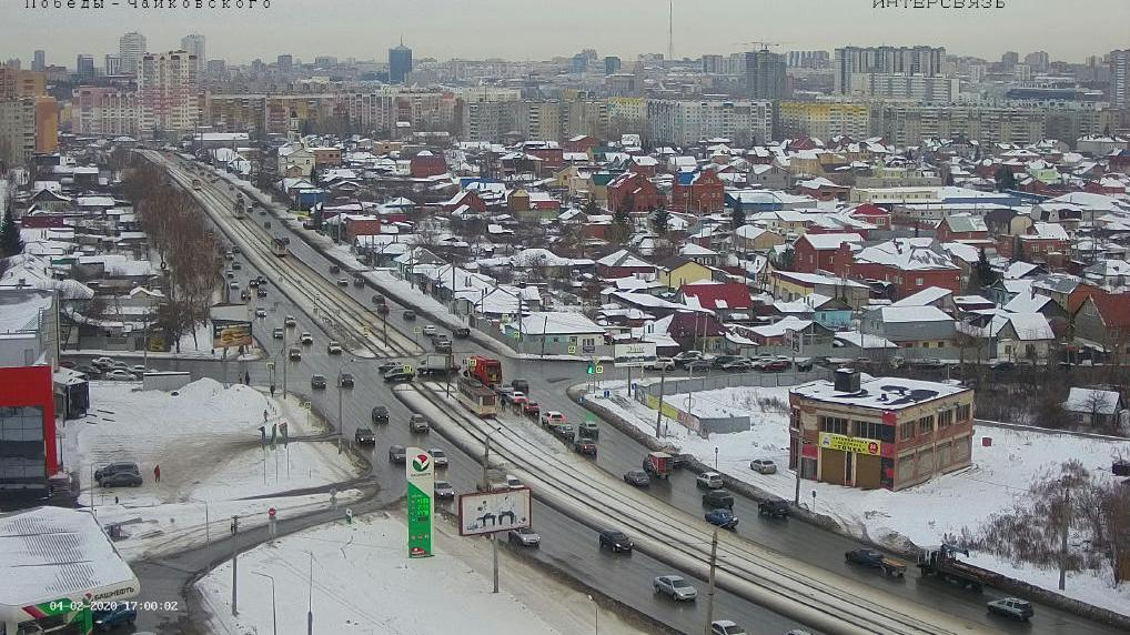 Webcam Chelyabinsk › South-East: ulitsa Chaykovskogo − pr