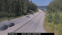 Mission > West: , Hwy  (Lougheed Hwy) at Hayward St in - looking north-west along Hwy - Day time