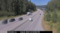 Mission > West: , Hwy  (Lougheed Hwy) at Hayward St in - looking north-west along Hwy - Overdag