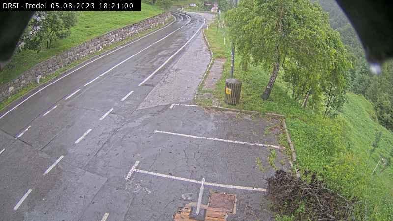 Webcam Log pod Mangartom: R1-203, Predel − Bovec, pred pr