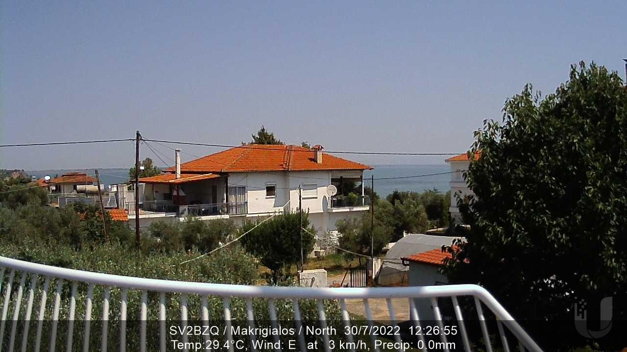 Webcam Μακρύγιαλος: LIVE WEBCAM FROM SV2BZQ − MAKRIGIALOS