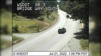 Port Gamble > South: SR  at MP .: Bridge Way Looking South - Overdag