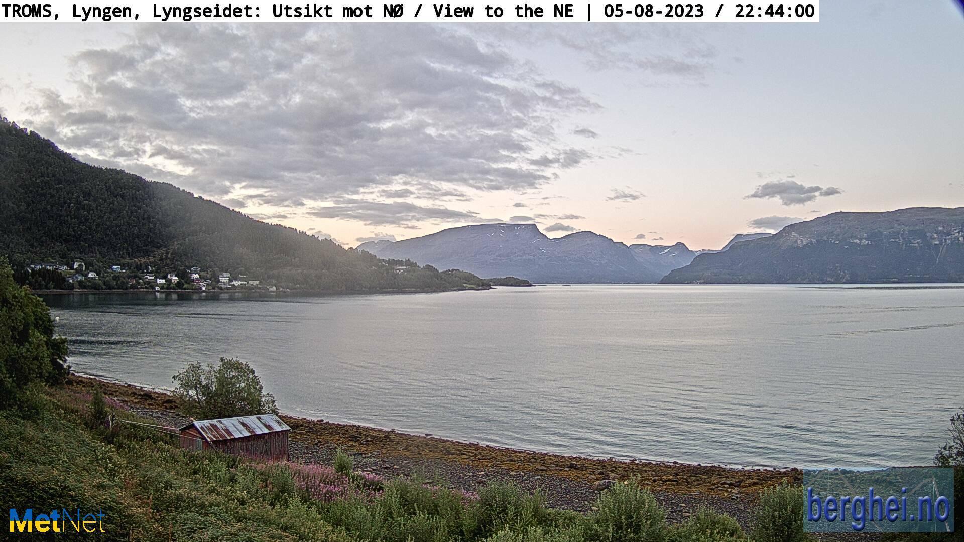 Webcam Lyngseidet › North-East: Lyngen Municipality