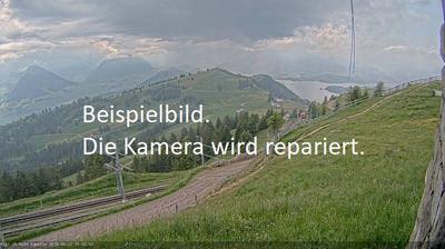 Tageslicht webcam ansicht von Rigi Kulm: Rigi − Lake of Lucerne − Mount Pilatus