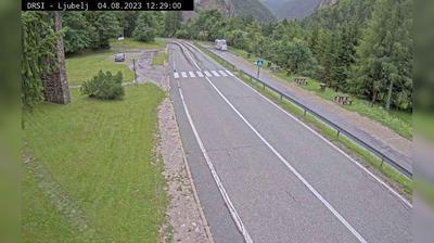 Daylight webcam view from Podljubelj: G2 101, Ljubelj − Tržič, pred prehodom Ljubelj