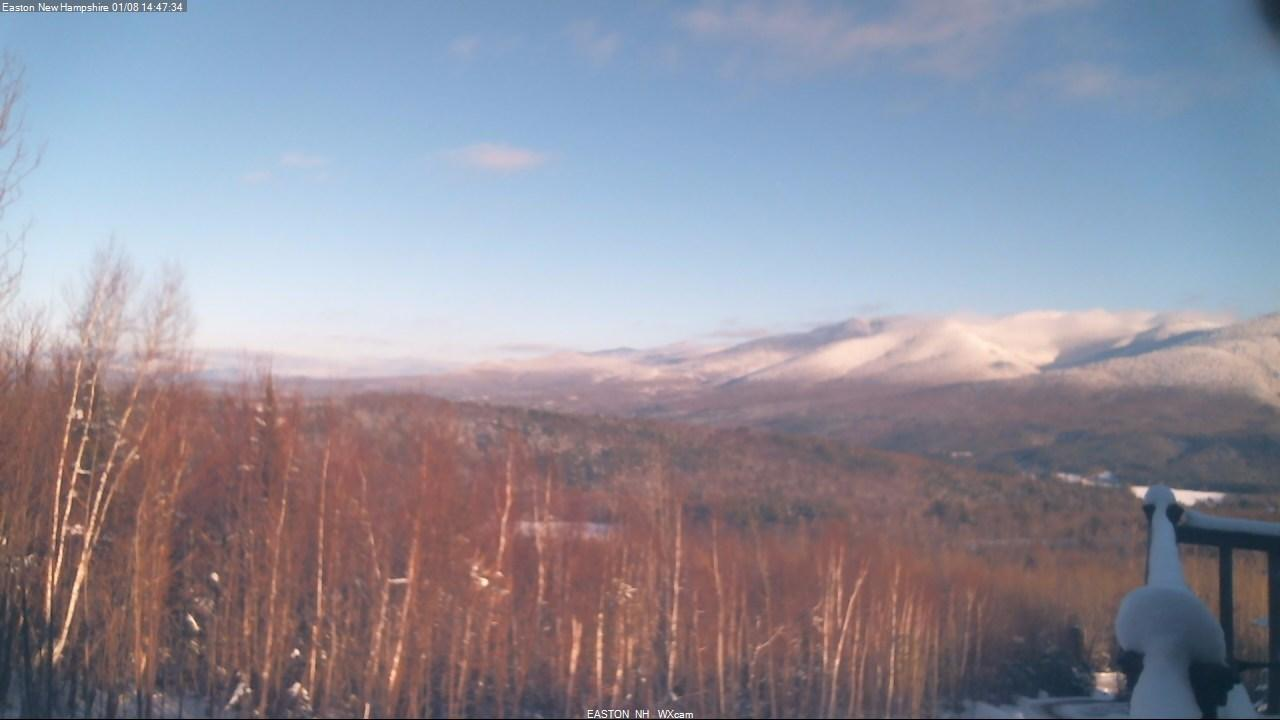 Webcam Mittersill: Cannon Mt. and Mount Lafayette in Fran