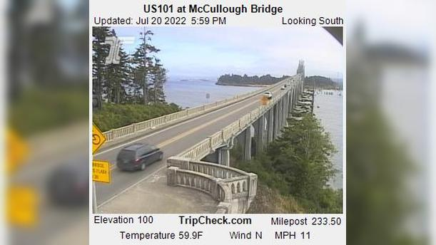Webcam Glasgow: US101 at McCullough Bridge