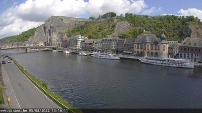 Daylight webcam view from Dinant › North: Citadelle de Dinant
