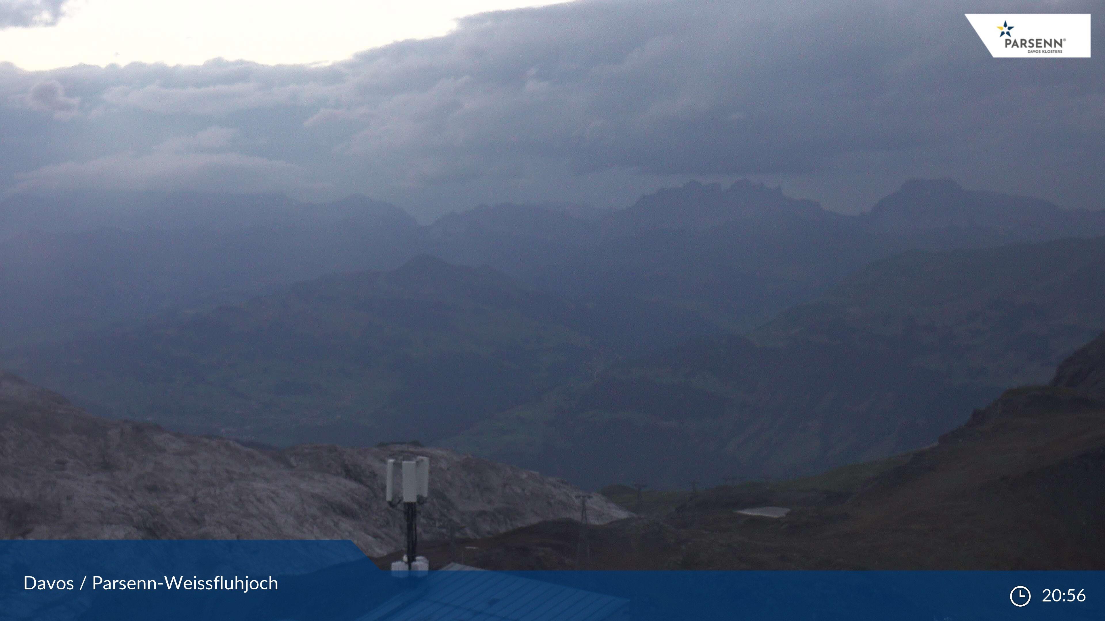 Davos: Dorf - Weissfluhjoch, Blick Schifer