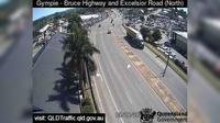 Gympie: Bruce Highway - Excelsior Road Intersection (looking North) - Day time