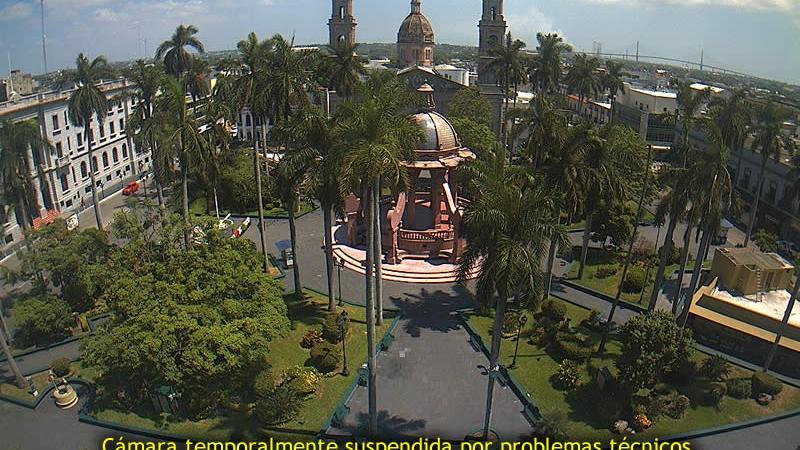 Webcam Tampico: Vista Panorámica de Plaza de Armas
