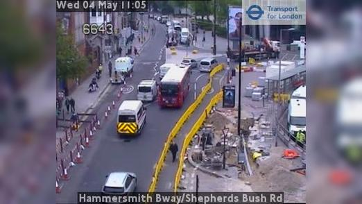 Webcam Acton: Hammersmith Bway/Shepherds Bush Rd