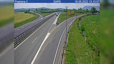 Vista de cámara web de luz diurna desde Zalog: A, Koper Ljubljana, priključek Postojna II