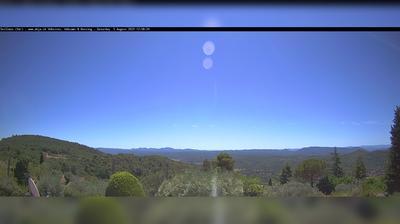 Vue webcam de jour à partir de Seillans: Le Cuinier − Fayence − Saint Paul en Forêt − Fréjus − Saint Raphaël − Esterel Cô