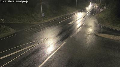 Current or last view from Jämsä: Tie 9 − Länkipohja − Jyväskylään