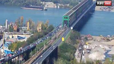 Daylight webcam view from Karaburma: Belgrade Live − Pančevački most
