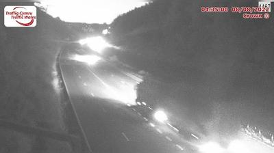 Cardiff: M eastbound between junctions  and  (Capel Llanilltern and Coryton)