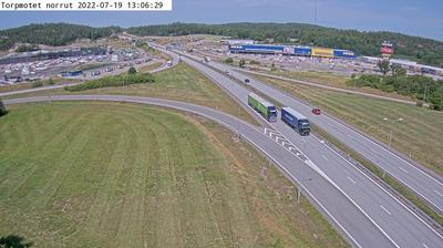 Daylight webcam view from Kissleberg: Torpmotet norrut