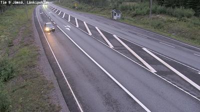 Current or last view from Jämsä: Tie 9 − Länkipohja − Tampereelle