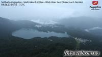 Grainau: Seilbahn Zugspitze - Weltrekord-St�tze - Blick �ber den Eibsee nach Norden - Recent