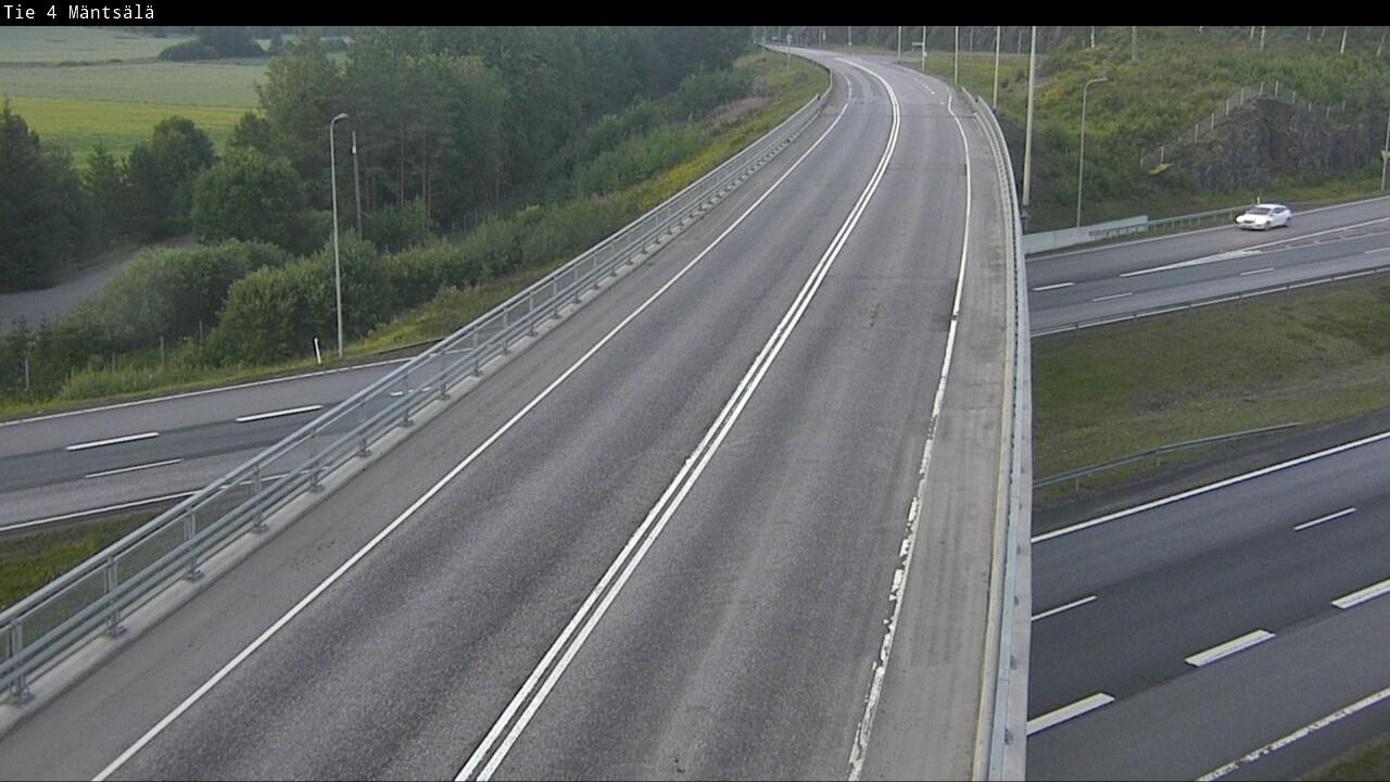 Webcam Mäntsälä: Tie 4 − Tie 140 Helsinkiin