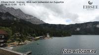 Grainau: Eibsee-Hotel - Blick nach S�dwesten zur Zugspitze - Actuales