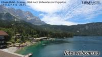 Grainau: Eibsee-Hotel - Blick nach S�dwesten zur Zugspitze - Dia