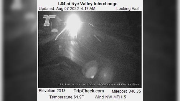 Webcam Jett (historical): I-84 at Rye Valley Interchange