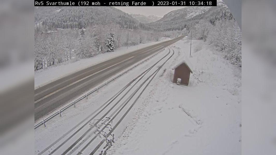 Webkamera Svarthumle: R5 − 192 moh, retning mot florø