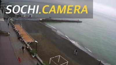 Webkamera Соболевка: Пляж Тинькофф г. Сочи