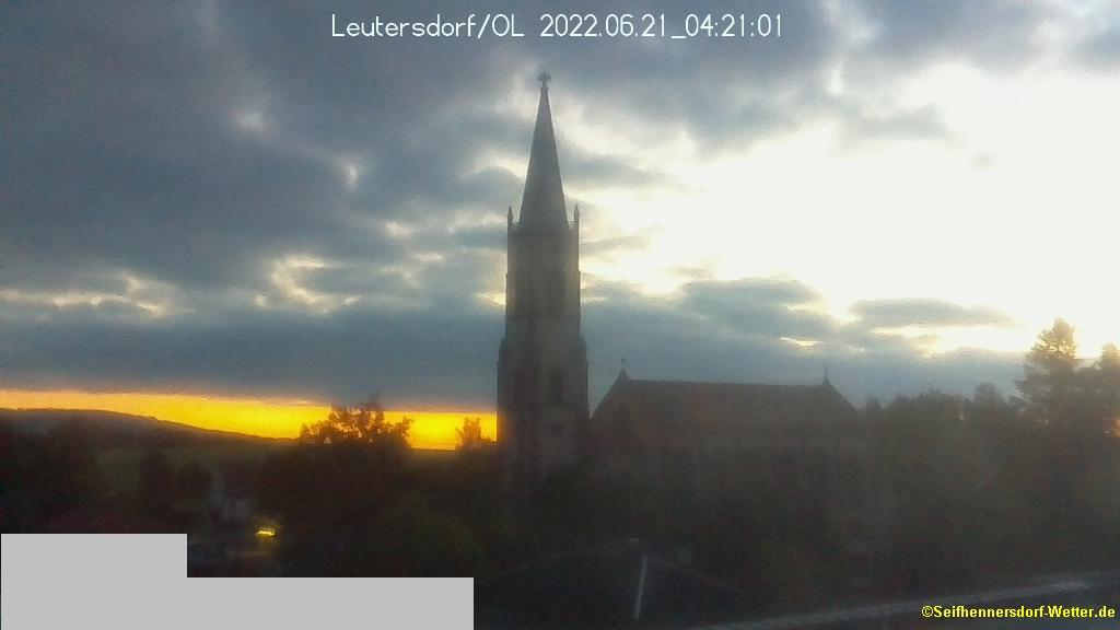 Webcam Leutersdorf › North-East: Kirche
