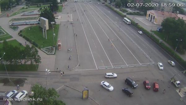 Webkamera Ussuriysk: Центральная площадь