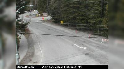 Daylight webcam view from Tamarisk › West: Sea to Sky Highway, Hwy 99 at Cheakamus Lake Rd & Alpha Lake Rd, 5 km