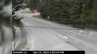 Whistler Resort Municipality > West: , Hwy  at Cheakamus Lake Rd & Alpha Lake Rd,  km south of Whistler, looking west - Day time