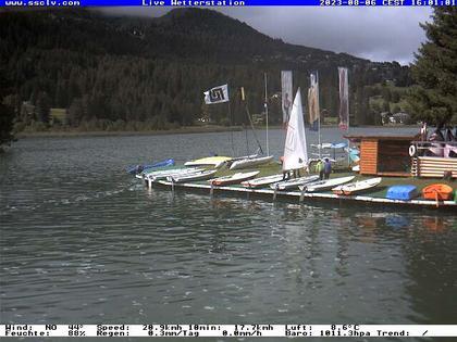 Lenzerheide: Wassersportcenter SSCLV, Heidsee - Valbella