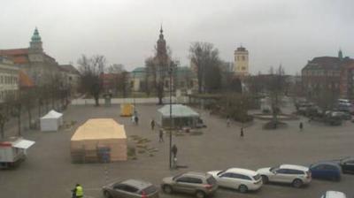 Daylight webcam view from Karlshamn: square (Live)