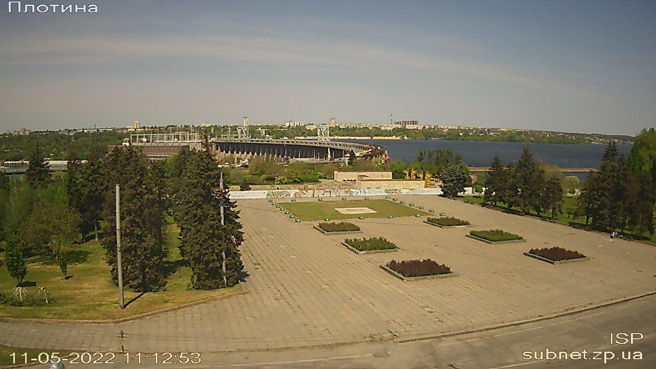 Webkamera Port Imeni Lenina › North-East: Zaporizka Square −