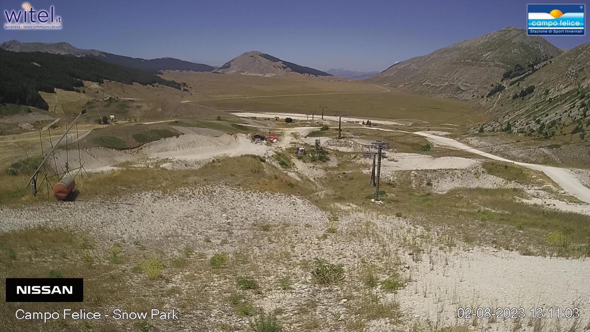 Webkamera Rocca di Cambio: Snowpark Campo Felice: Snowpark C