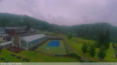 Daylight webcam view from Velke Karlovice: Wellness hotel Horal