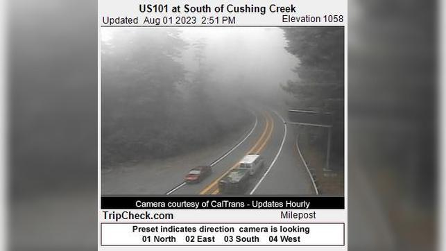 Webkamera Bertsch-Oceanview: US101 at South of Cushing Creek