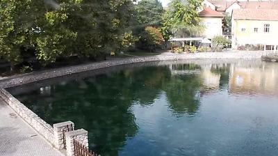 Daylight webcam view from Tapolca: Malom tó