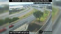 Brisbane City: Archerfield - Granard Road and Ipswich Motorway (looking South) - Day time