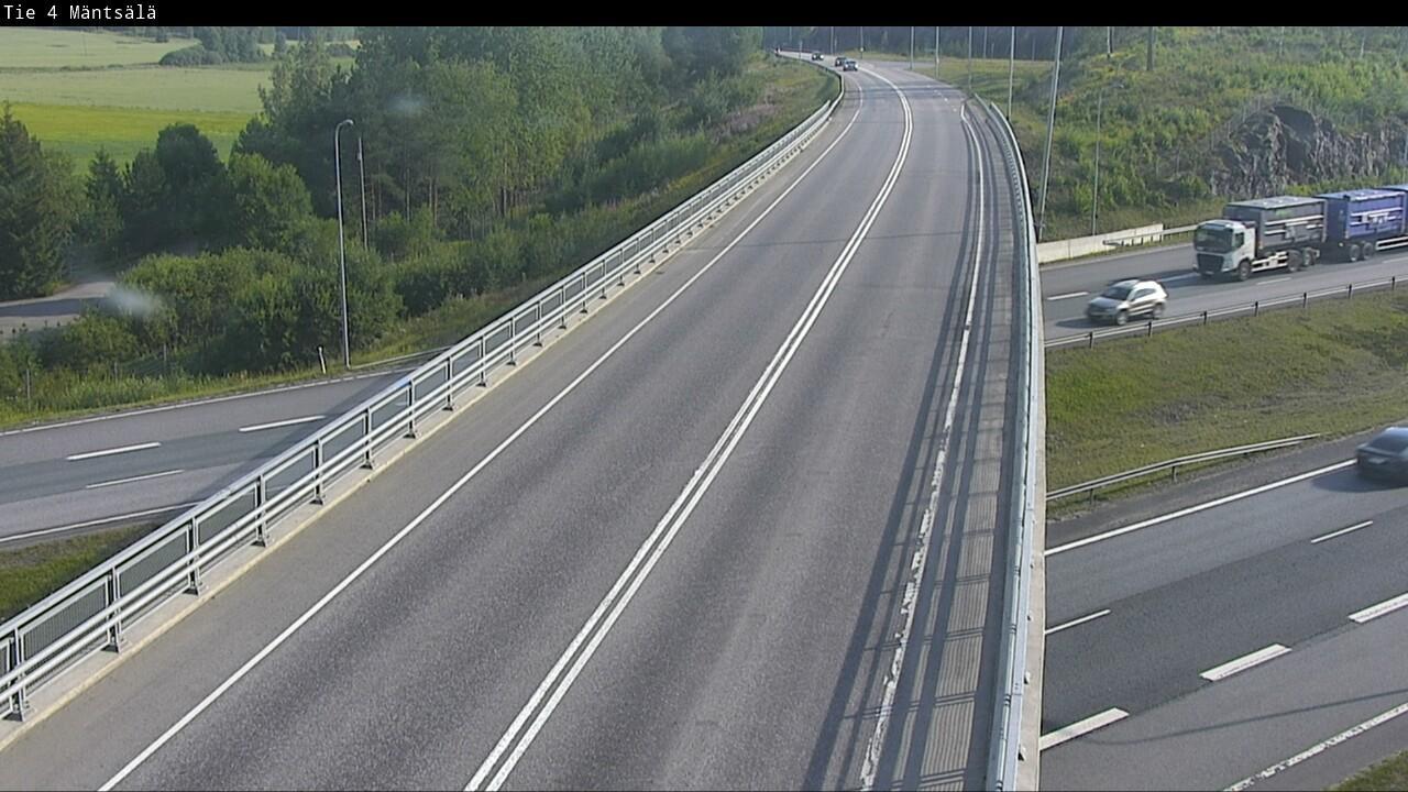 Webkamera Mäntsälä: Tie4 Mantsala − Tienpinta