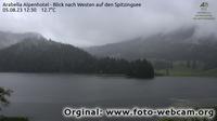 Spitzingsee: Arabella Alpenhotel - Blick nach Westen auf den - Dia