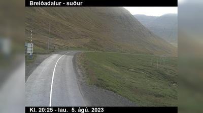 Current or last view from Hnífsdalur: Bolungarvíkurgöng við Hnífsdal