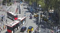 Barcelona: Plaza - Overdag