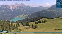 Gran: Tannheim, Neunerköpfle Bergstation, Blick auf den Haldensee - Dia